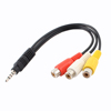 Gold plated creative volume control 3.5mm audio cable