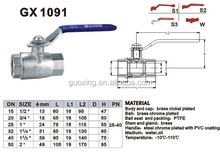 water media and high pressure brass ball valve