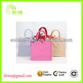 2017 wholesale eco promotional jute shopping bag