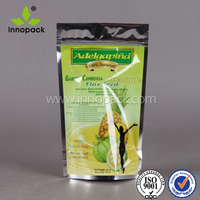 aluminum foil printed stand up coffee tea bags