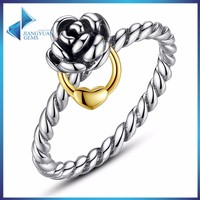 Flowr shape 925 sun silver ring