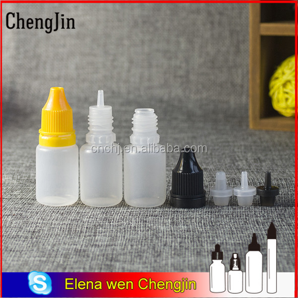 food grade small plastic containers 2ml 3ml 5ml 10ml 15ml 20ml 30ml 50ml 60ml 100ml 120 ml with cap