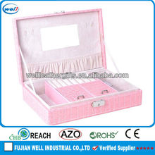 New Design Leather antique silver jewelry box
