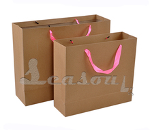 Custom printed food grocery shopping brown kraft paper bag