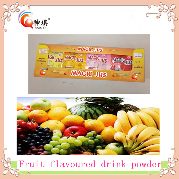 instant fruit flavored drink powder mixed