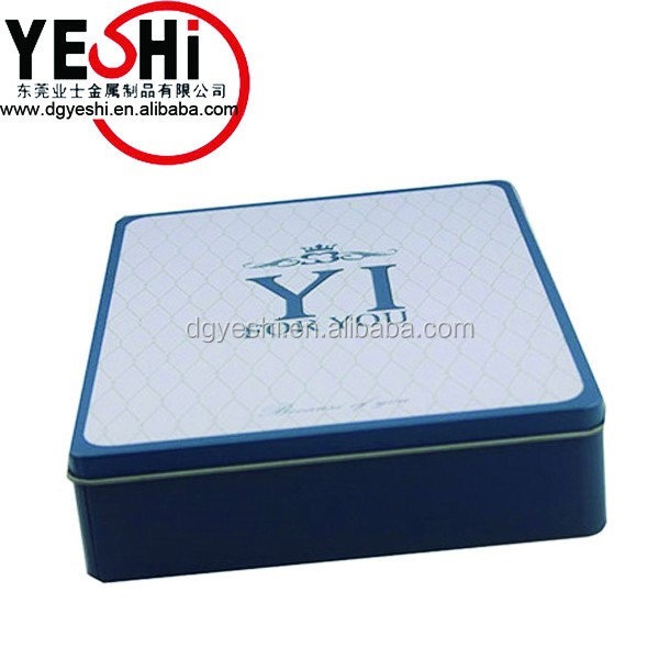 Personalized Square CD Tin Packaging Case with OEM Design