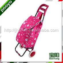 foldable aluminium alloy trolley bag nylon golf bag travel cover