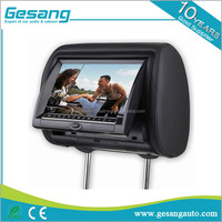 Factory wholesale price 7 inch car lcd monitor car headrest monitor with dvd player