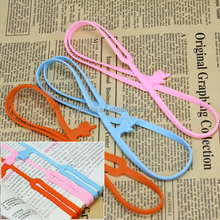 School supplier custom 3d silicone pointing finger bookmark