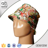 promotional printed custom made short brim bucket hat