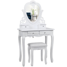 Dressing Table Jewelry Making Storage Cabinet Wooden For Bedroom