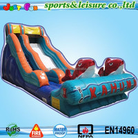 cheap inflatable fish slide for kids, big kahuna inflatable water slide