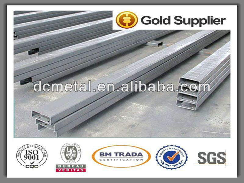 Regular length hanging pipe system strut slotted galvanized plain type u beam metal bar gi steel c channel specification