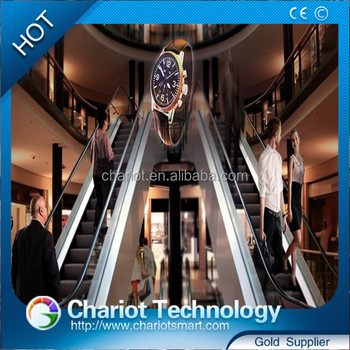 Chariot 3d mini hanging fan bring a vivid 3d advertising display in the air