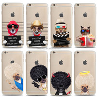 Cheap cell phone cases creative cute naughty funny puppy kitty dog cat Soft TPU customized design phone case For iPhone 5 5S
