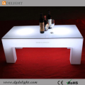 Rechargeable LED illuminated Outdoor Plastic Coffee Tables with RGB 16 Colours