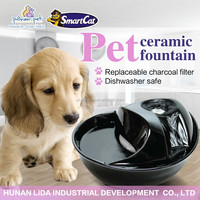 china pet supplies pet premium ceramic Fountain for dog , pet water fountain drinking bowl
