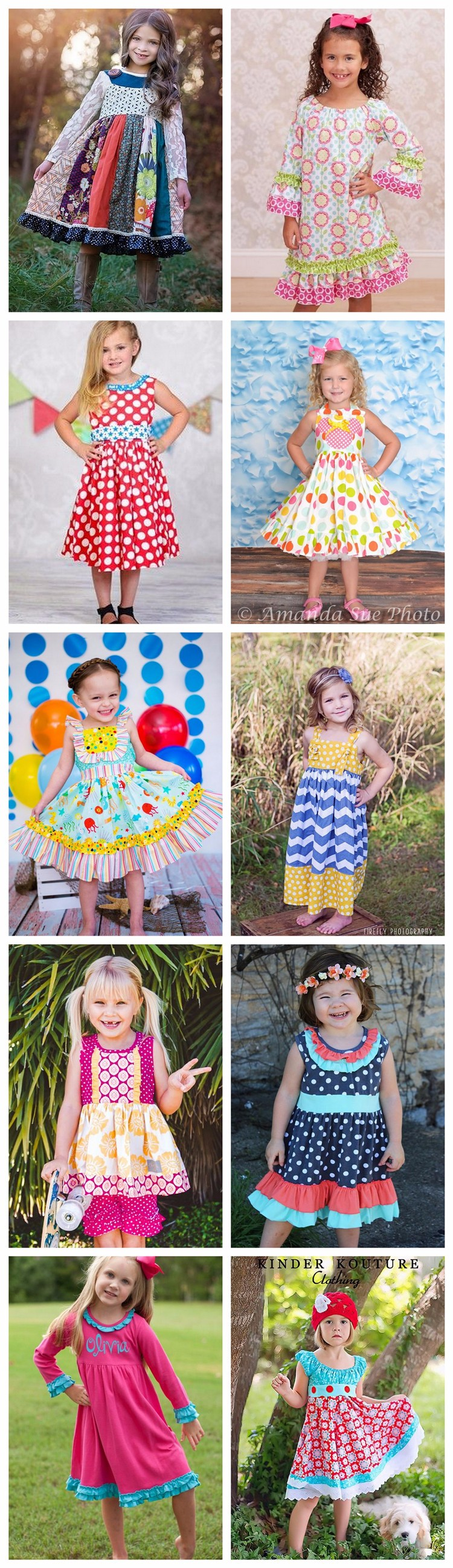 Little girl fall clothing boutique remake maxi dress