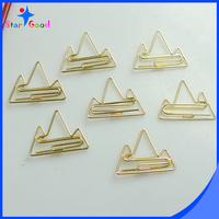 Custom Office Stationery Gold Binder Paper Clip For Files