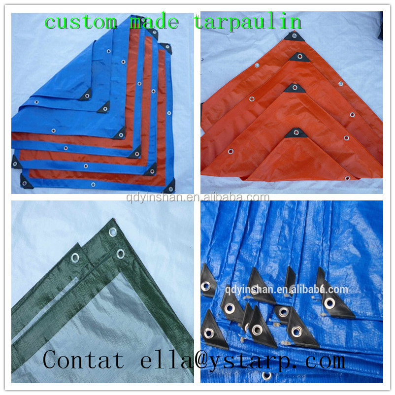 400x300cm TARP without steel pole for outdoor camping-BLUE