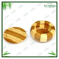 new design bamboo ashtray with cover