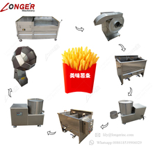 Small Scale Production Line French Fries Making Potato Chips Machine Price