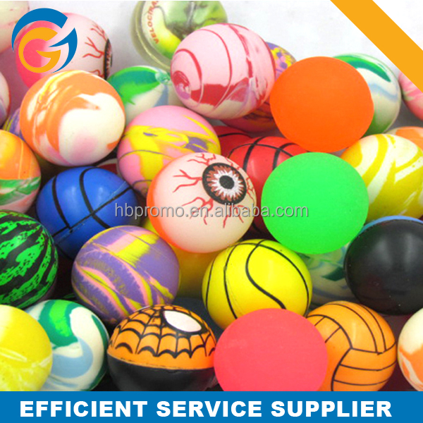 Rubber Bouncy Ball Balls Normal Mix for Vending Machine