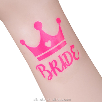 oem neon shocking pink bride tattoo
