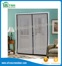 Plisse window fly screen magnetic screen door cover