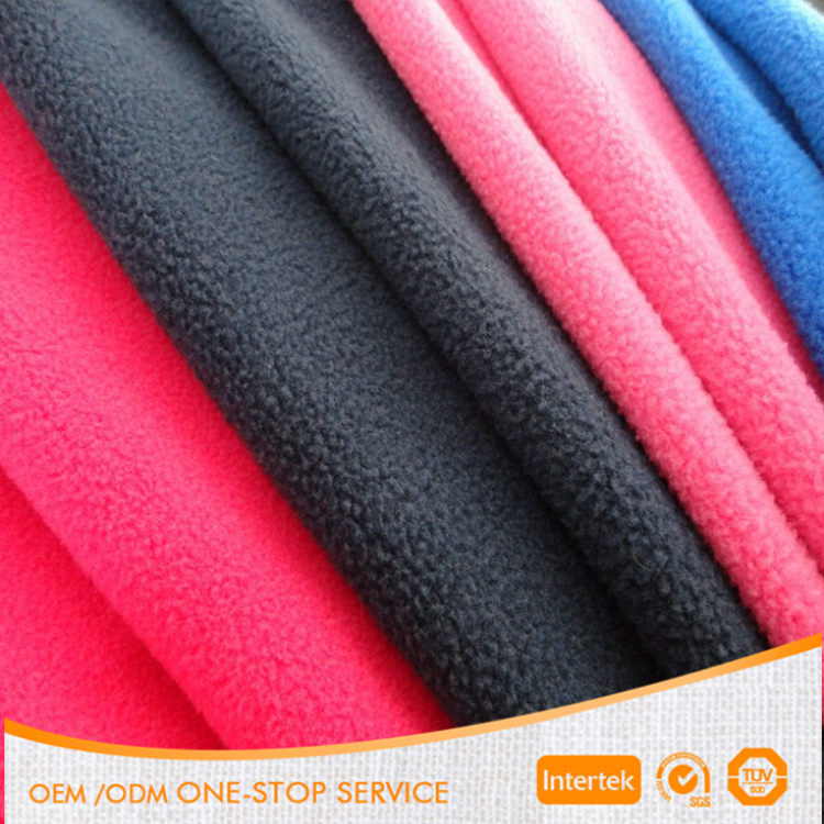 wholesale 100% polyester plain dyed polar fleece fabric