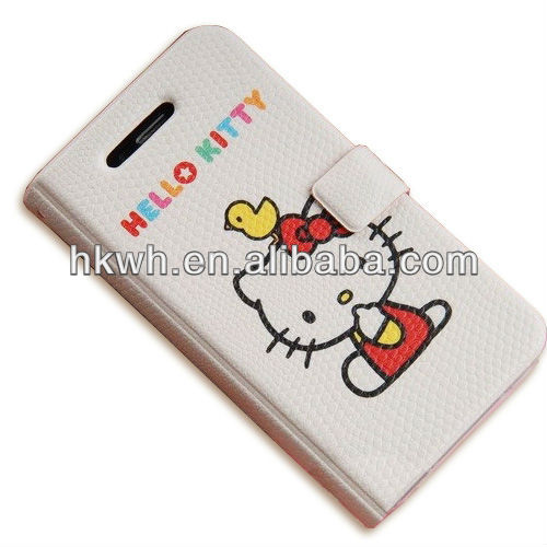 Cute cartoon PU leather case for iphone 4G 4S