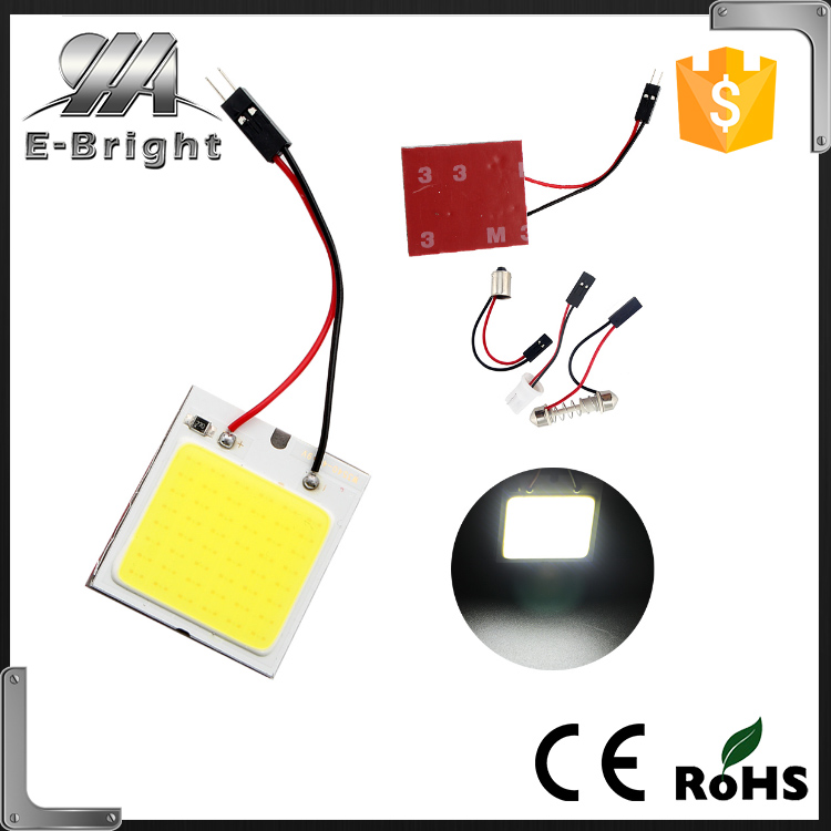COB Chip LED Car Interior lamp T10 Festoon Dome Adapter Car Vehicle LED Panel/festoon bulb for car