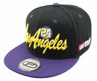 LOS ANGELES city purple black embroidery cotton snapback hippop flat cap and hat