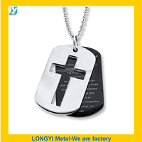 white and black cross dog tag for promotional