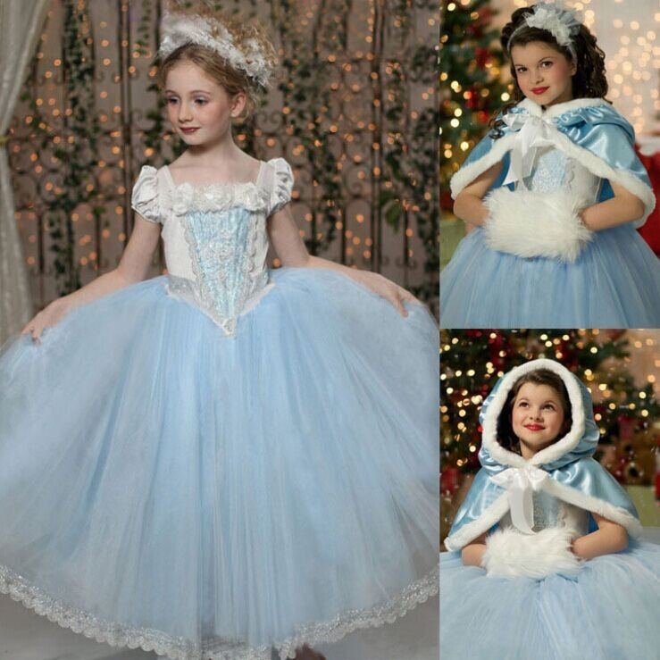 (Gift) 2018 Frozen Elsa Costume for Girls Dress Up Elsa Movie Costumes Fashion Princess Party Dresses Infant Frozen Clothing