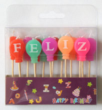 birthday cake candles Toothpick Letters Candles