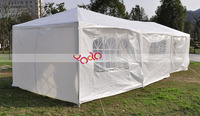 3 x 9m Eight Sides Two Doors Two Bedrooms Waterproof Foldable Camping Tent Marquee Tent White