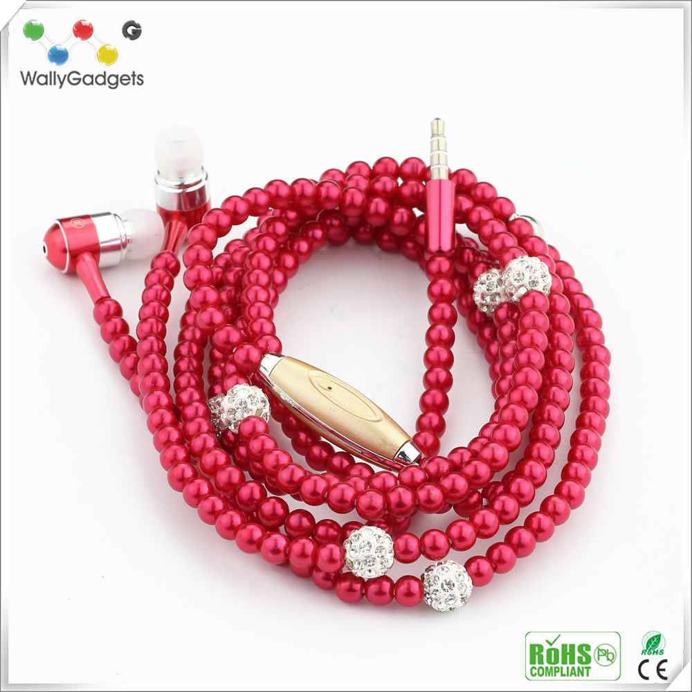 2017 new product Necklace Design Earphone Headphones For Girls