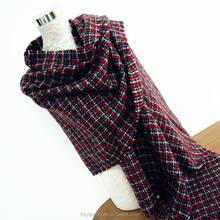 Personalized Plaid Pattern Cashmere Thick Cape Fringed Shawl lady knit tartan scarf