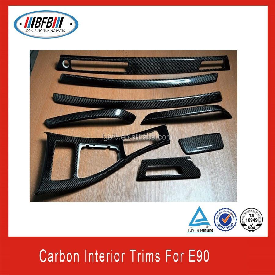 자동차 부품 실제 탄소 섬유 내부 트림 BMW e90 적합-기타 인테리어 ...