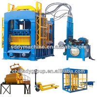 Dongyue brand hydralic used concrete fly ash/sand caly brick making machine for sale (39 sets in India)