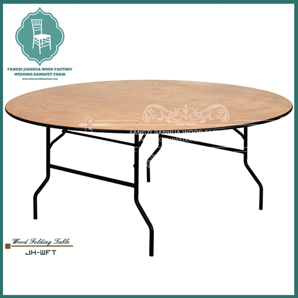 Folding wooden dinning round table for wholesale