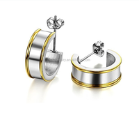 2015 Wholesale China Factory 316l Stainless Steel Two Tone Ear Cuff Jewelry for Women