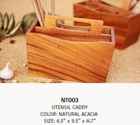 NT003 utensil caddy kitchen tools utensil accessory dinnerware tableware kitchenware wood woodware