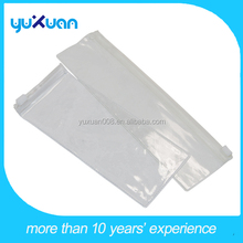 small transparent white plastic pencil bag for child with zipper