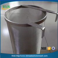 Alibaba 304 plain weave stainless steel hop filter screen/beer brewing equipment 20l home