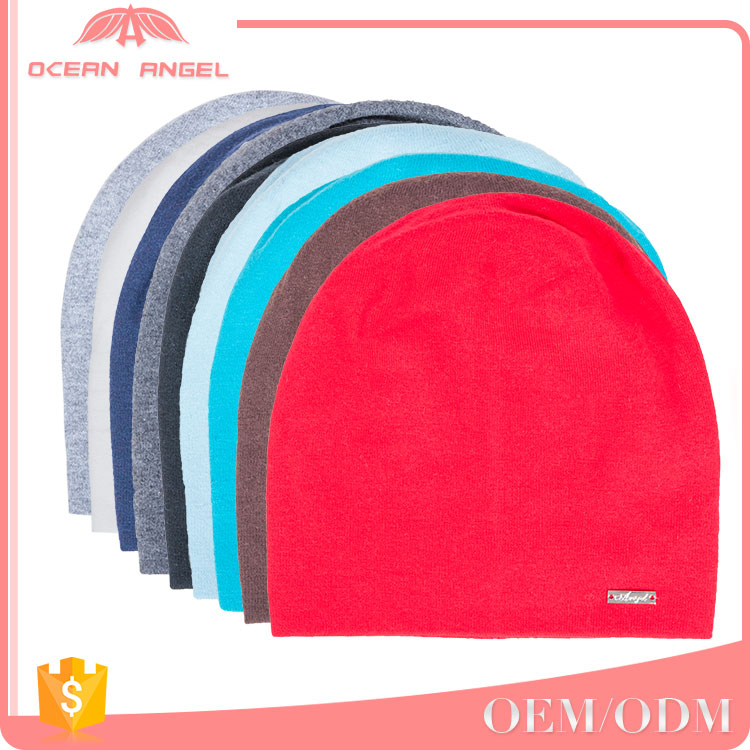 Best sell customized kinds of solid colour beard winter caps plain knitted beanies hat