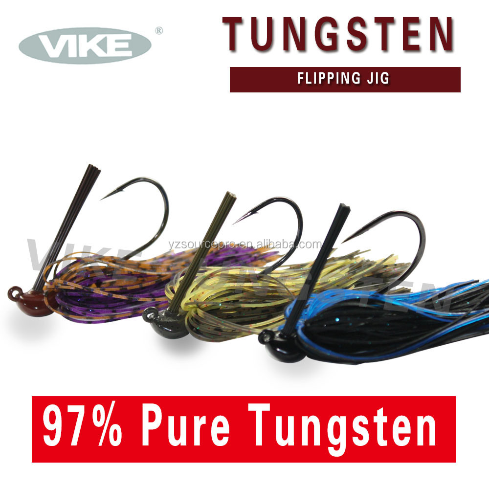 112TFPJ-733 fishing tungsten flipping jig with 6/0 hook 1-1/2 oz. (42.0g) camo craw color 1pk