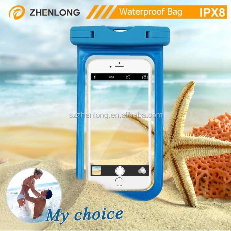 Top Quality Tpu 5.5 Inch Waterproof Phone Bag For General Mobile Phone