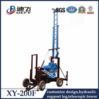 Working with spt test equipment XY-200F used rock core drilling machine for sale